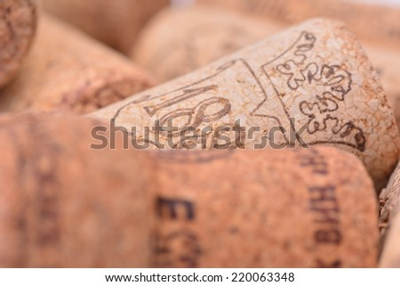 Cork wine - stock photo