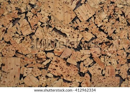 Cork wood background notice board - stock photo