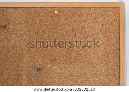 Corkboard texture with a pin