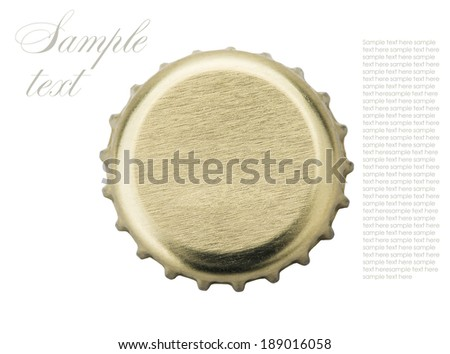 corks from beer and lemonade isolated on white background