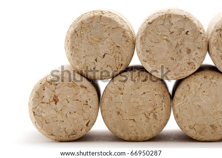 corks in a row - stock photo