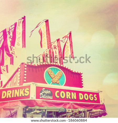 Corn dog stand - stock photo