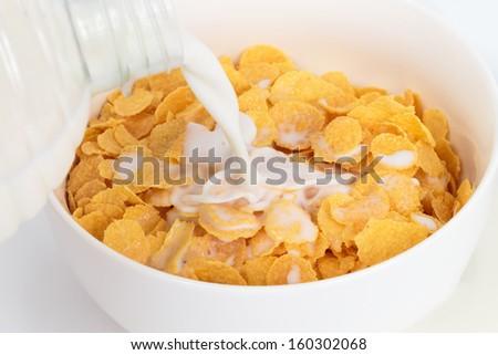 Corn flakes - stock photo