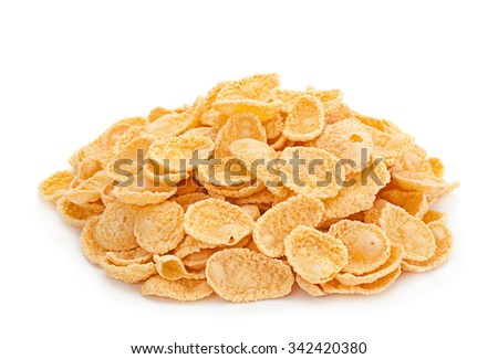 Corn flakes snack isolated on white background