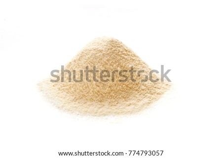 corn flour  isolated on white background. top view