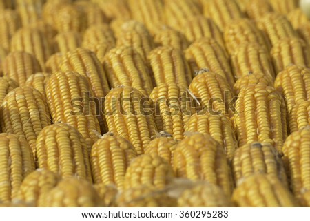 Corn for animal feed sold in rural markets .