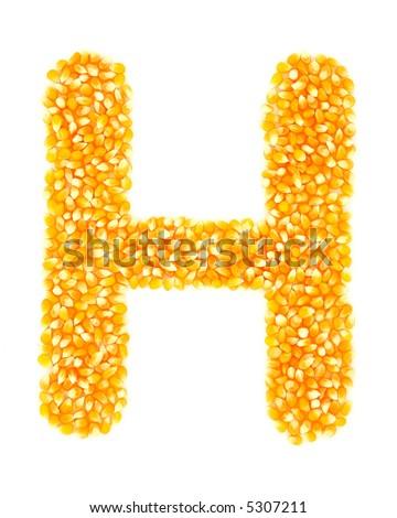 Corn H - stock photo