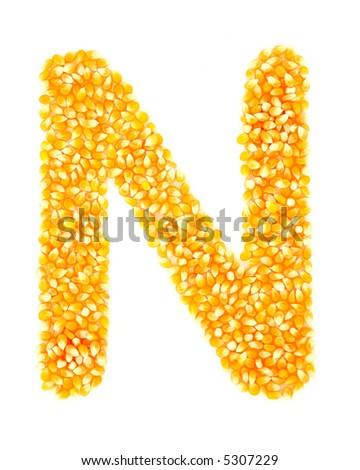 Corn N - stock photo