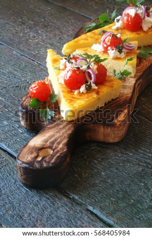 Fried Eggs Cast Iron Pan Peppers Stock Photo 543148276 ...