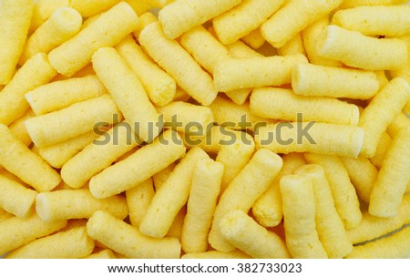 corn puffs snack food texture pattern background