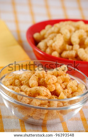 Corn snack with decoration