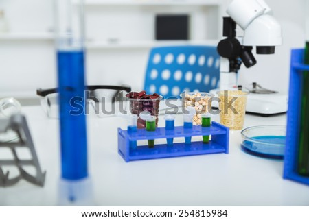 Corn subject to selection in Microbiological laboratory - stock photo