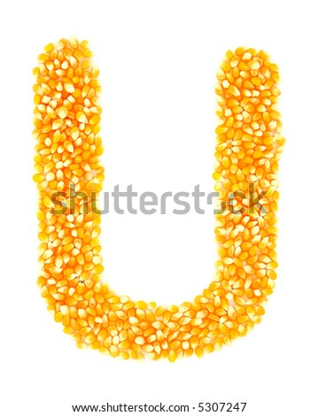 Corn U - stock photo
