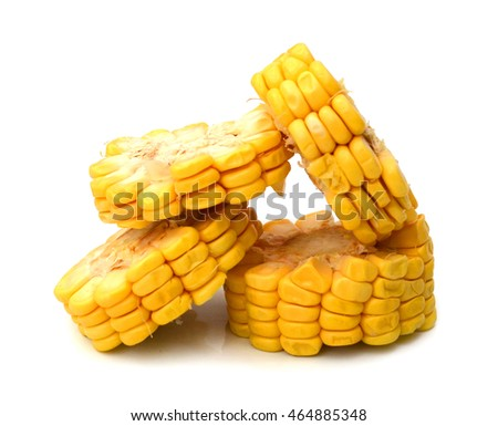 Corn. With clipping path