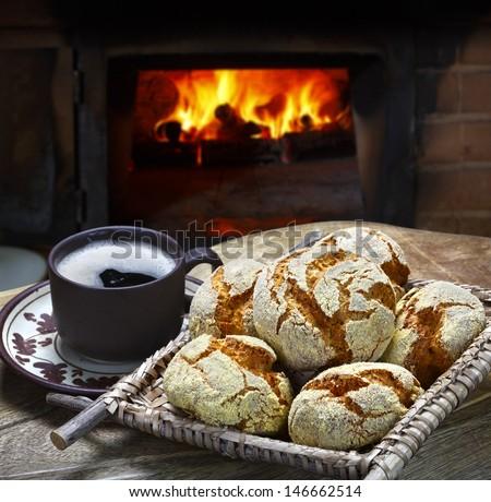 cornbread cornmeal - stock photo