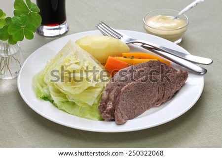 corned beef and cabbage - stock photo