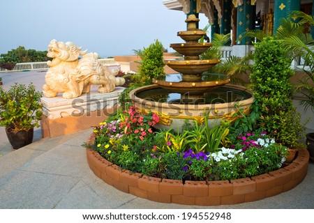 Corner decorated in garden Public. - stock photo
