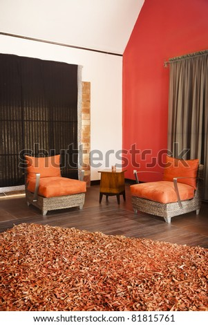 corner of a luxury modern appartment - stock photo