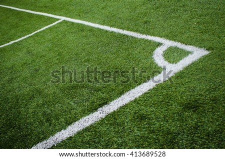 corner of a soccer - stock photo