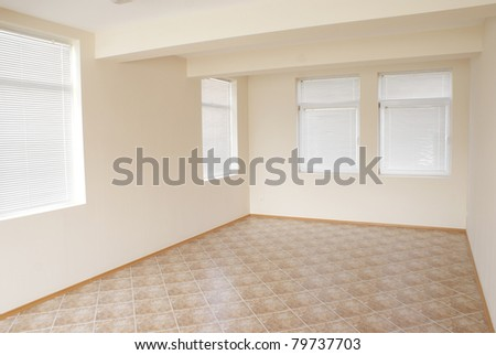Corner of an empty room that can be used as background or texture