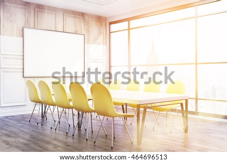 Corner Conference Room New York Office Stock Illustration - Corner conference table