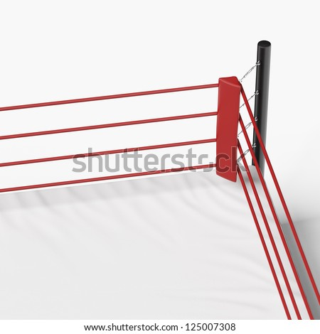 corner of the boxing ring isolated on a white background - stock photo
