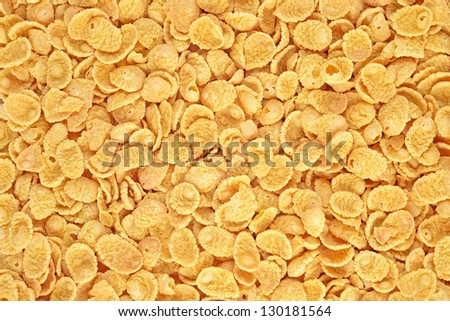 Cornflakes background - stock photo