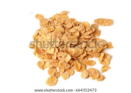 Cornflakes isolated on white background