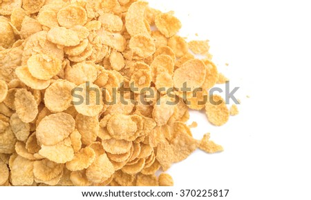 cornflakes on white background