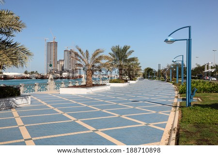 Corniche in Abu Dhabi, United Arab Emirates