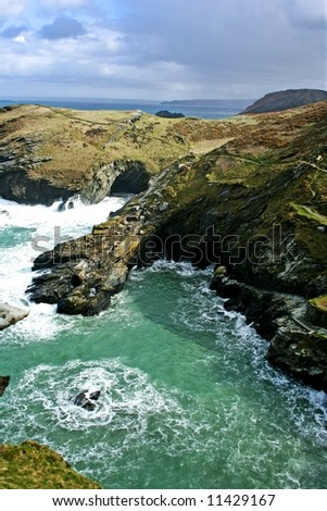 Cornish Coast at Tintagel