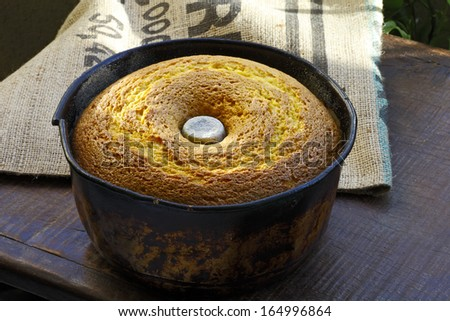cornmeal cake - stock photo