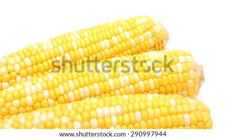 corns on white background  - stock photo