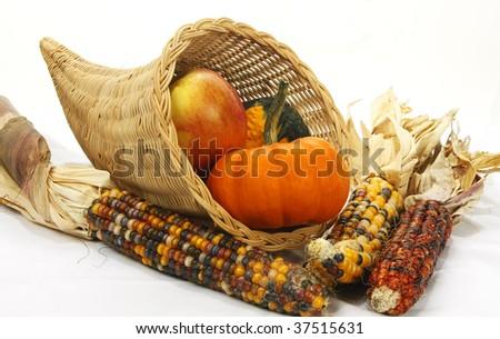 cornucopia basket - stock photo