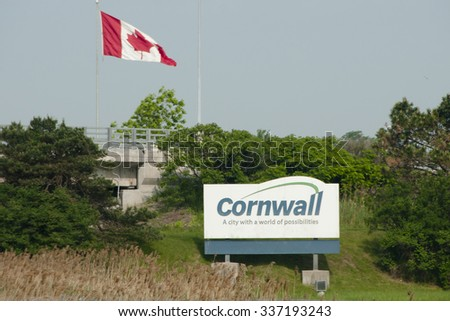 Cornwall City Sign - Canada
