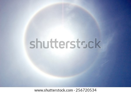 Corona, ring around the sun - stock photo