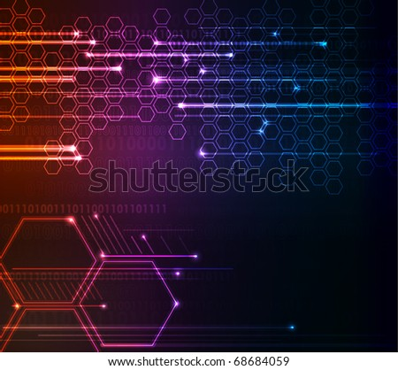 Corporate abstract modern glowing background, raster illustration