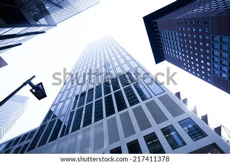 Corporate buildings in perspective - stock photo