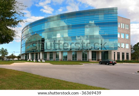 Corporate Business Office Building - stock photo