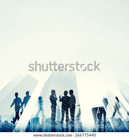 Corporate Business People Office Building Concept - stock photo