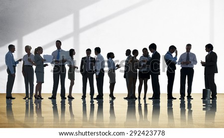 Corporate Business Team Discussion Meeting Concept - stock photo