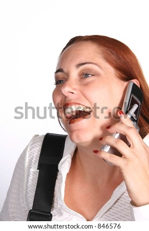 Corporate Business Woman Laughing on Phone