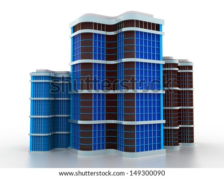 corporate city skyscraper business background, Commuting to work - stock photo