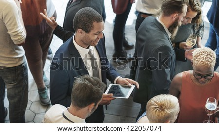 Corporate Conference Connection Conversation Concept - stock photo