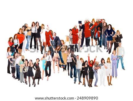 Corporate Culture Models Diversity  - stock photo