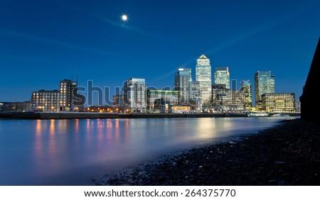 Corporate Finance -Canary Wharf - stock photo