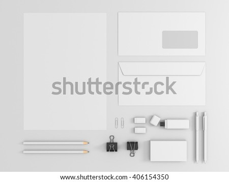 corporate identity kit stock images royalty free images vectors