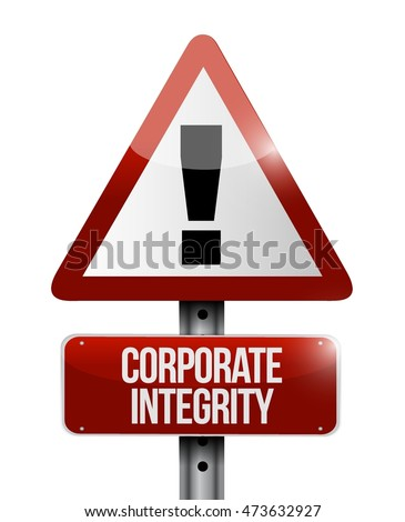 Corporate integrity warning sign concept illustration design graphic