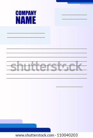 Corporate Letter Blank with Blue Shapes