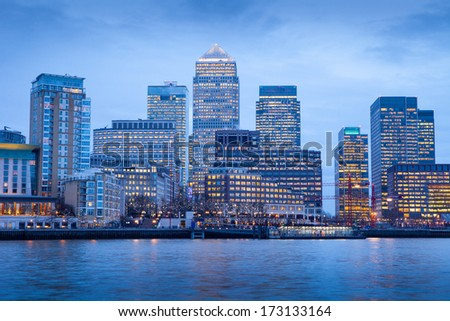Corporate office building, Canary Wharf, London, England, UK  - stock photo